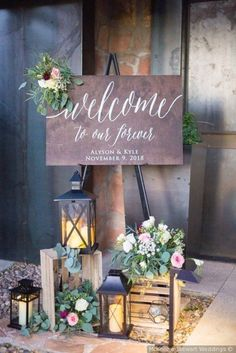 wedding signs for reception . wedding signs for reception entrance . wedding signs for kids to carry . wedding signs for reception funny Rustic Wedding Signs, Wedding Welcome Signs, Chic Wedding, Wedding Table, Dream Wedding, Wedding Ideas, Rustic Weddings, Wedding Signing Table, Wedding Planning