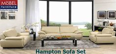 Cozy and comfortable Hampton Sofa Set that will add in the perfect touch of elegance to your living room.
