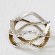 honeycomb ring by christina kober designs