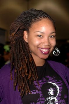 Sandria Washington flaunts her lovely locs at the Black Girl with Long Hair Chicago Meetup