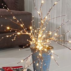 Image result for how to decorate tree branches for christmas