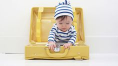 This jetsetting baby speaks for himself. Liberty fabric always makes an impression.