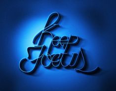 blue close, blue dream, 3d design, art, focus, typography, type, blues, typographi