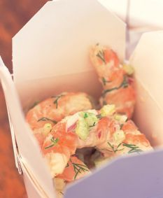 Barefoot Contessa Shrimp Salad with orange by Ina Garten Seafood Salad, Shrimp Salad, Seafood Dishes, Fish And Seafood, Food Network Recipes, Cooking Recipes, Healthy Recipes, Chefs, Vinaigrette