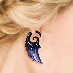 Fake Gauges Dark Angel Wings EcoFriendly by PrimalOriginals