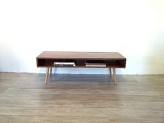 32 Solid Walnut Low MidCentury Modern by jeremiahcollection
