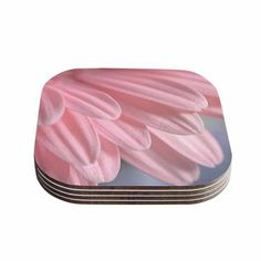 Kess InHouse Suzanne Harford 'Airy' Floral Coasters