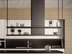 13 veces he visto estas apacibles cocinas con isla. Kitchen Layout, Kitchen Decor, Dream Home Design, House Design, Kitchen Hoods, Happy House, Modern Farmhouse Kitchens, Design Case, Interior Design Kitchen