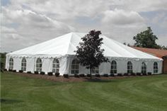 Need to budget for a tent. cost as much as the venue on its own  40' Frame Canopy Series Sidewalls not included, rented separately  40' x 40' ...............................................$   940.00 40' x 50'................................................$ 1180.00 40' x 60' ...............................................$ 1420.00 40' x 70' ...............................................$ 1660.00 40' x 80' ...............................................$ 1900.00 40' x 100'…