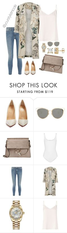 """""""Dusters for days"""" by nicolemorris87 on Polyvore featuring Christian Louboutin, Christian Dior, Chloé, Wolford, Frame, River Island, Rolex and L'Agence"""