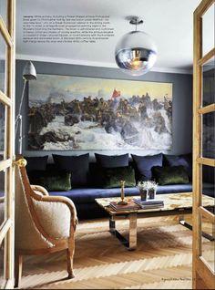 chair/light fixture/sofa