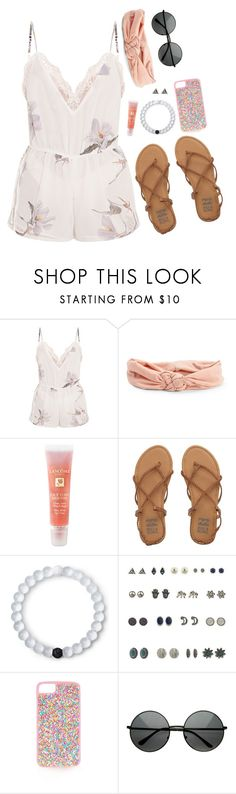 """Floral Romper"" by lhhmp19 ❤ liked on Polyvore featuring Aéropostale, Lancôme, Billabong, Lokai, Topshop, Summer, trending, trends and contestentry"