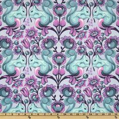 The Birds & The Bees Squirrel Mist - Discount Designer Fabric - Fabric.com