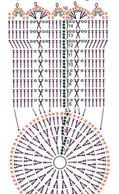 Corbeilles - Fleurs Et Applications Au Crochet - Diy Crafts Lampe Crochet, Crochet Diy, Crochet Chart, Crochet Diagram, Crochet Gifts, Crochet Motif, Crochet Designs, Crochet Stitches, Crochet Patterns