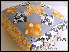 Granny Star Pillow Tutorial