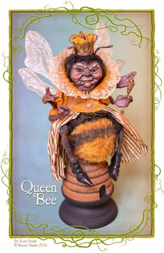 Created for a spring web sale by Scott Smith © Rucus Studio 2016 Halloween Doll, Halloween Crafts, Halloween Decorations, Halloween Witches, 3d Fantasy, Fantasy Artwork, Paper Clay, Clay Art, Bee Art
