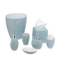 Blue Glass Bathroom Accessories