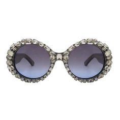 cd2620fed A-Morir Wilson Large Black Crystal Gem Sunglasses Camisetas Brancas, Roupa  De Lantejoulas,