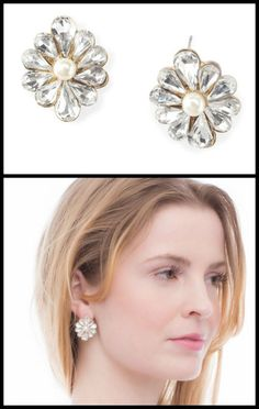 These sparkling flower statement studs by Benique have a fabulous, retro glam feel.
