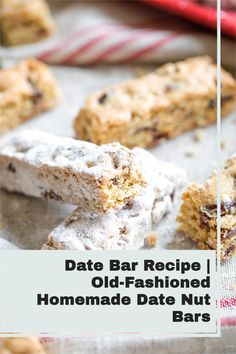 Dating back more than half a century ago, this Date Bar recipe was a Christmastime treat on the Ohio farm where my mother grew up. They're a special, old-fashioned cookie for the holidays – but honestly, we love them so much that we make them all year 'round. They're super-easy and freezable, too, so you can always keep a stash on hand! Healthy Christmas Recipes, Healthy Recipes, Date Nut Bars, Dessert Recipes, Desserts, Kitchen Recipes, Super Easy, Ohio, Kitchens