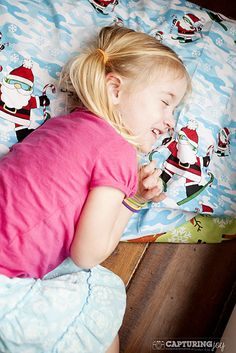 Sew a special Christmas fabric pillowcase for your kids that they can only use during December - fun new holiday tradition for your family