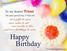 Birthday Message For Friend Greetings Happy Quotes Friends Messages