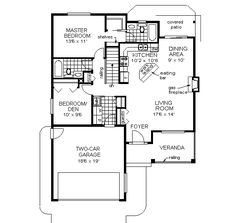 1200 sq ft house plan 62523 at family home for 1010 family plan