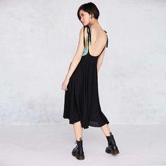Black Strap Overall Skirt