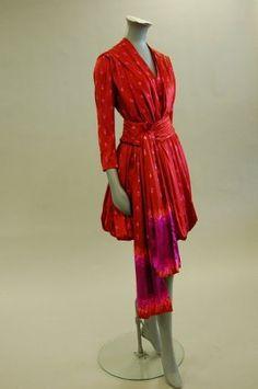vintage Christian Lacroix Batik gown