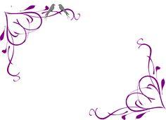 Purple flower border design clipart free to use clip art resource Page Borders Design, Border Design, Borders For Paper, Borders And Frames, Frame Clipart, Art Clipart, Wedding Borders, Free Clipart Images, Stencil Patterns