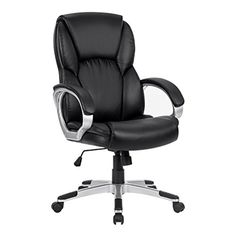 LANGRIA Modern Ergonomic HighBack Leather Computer Executive Office Chair with Padded Armrests Adjustable Seat Height Synchro Tilt Mechanism 360 Degree Swivel Black >>> You can find more details by visiting the image link. (This is an Amazon Affiliate link and I receive a commission for the sales)