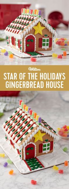 Star of the Holidays Gingerbread House - Decorate a bright and colorful gingerbread house that will be the star of your holidays! Candy, icing and fondant add the color, and the star icing decorating adds the dazzle. It is a great holiday activity to share with your family and friends.