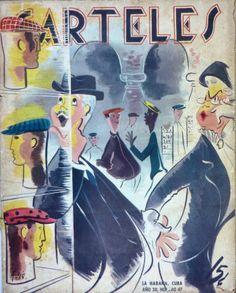 Carteles revista magazine habana Havana Cuba humor funny vintage poster