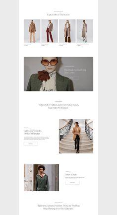 Ecommerce Website Design, Website Design Layout, Layout Design, Web Design, Online Fashion Stores, Interactive Design, Fashion Labels, Design Reference, Victoria Beckham