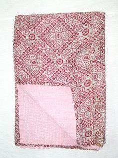 Twin Vintage sari quilt patch work indian kantha by Ayatcreation, $59.99