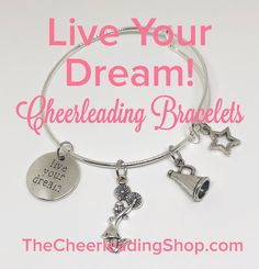 These Cheerleading Bracelets are not only GORGEOUS but Motivational too!!! Check out the perfect Cheerleading Gifts at TheCheerleadingShop.com :-)