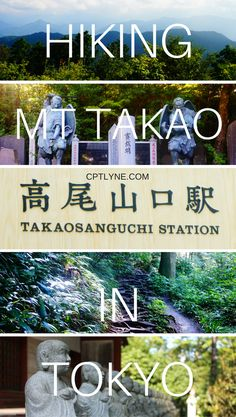 """When visiting Tokyo make to sure to add """"Hiking Mt Takao"""" on your bucket list ! Enjoy the luxirious nature and fresh air for a nice day trip away from the hustle and bustle that Tokyo can be. #japantravel"""