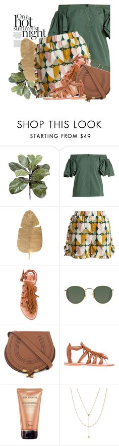 """Summer Vibes"" by hollowpoint-smile ❤ liked on Polyvore featuring Isa Arfen, La DoubleJ, Ray-Ban, Chloé, K. Jacques, Christian Dior and Jennifer Zeuner"