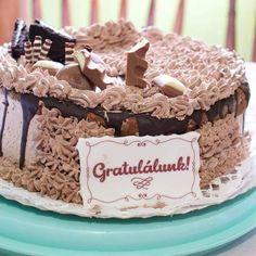 Rigó Jancsi torta Krispie Treats, Rice Krispies, Riga, Cake, Food, Pie Cake, Meal, Cakes, Essen