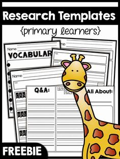Research in K! {freebie too}