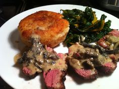Recipe Shed: Pan-Fried Goose Breast with Wild Mushroom Sauce, Potato Cake and Swiss Chard