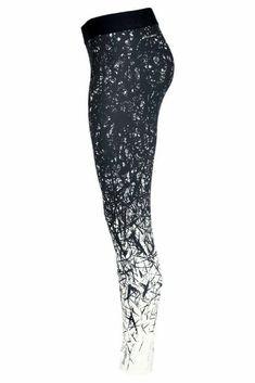 Fitness und Workout Leggings für Frauen in Schwarz / Weiß von Reebok ---> hier shoppen
