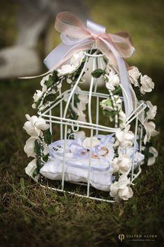 Wedding ring cage. Porta alianças em gaiola.
