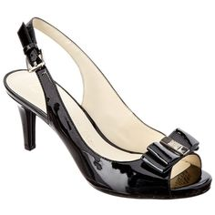 Anne Klein Anne Klein Stephania Patent Pump (401175101) ($35) ❤ liked on Polyvore featuring shoes, pumps, black, patent leather pumps, black ankle strap pumps, black patent leather shoes, high heel pumps and anne klein pumps