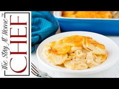 The Best Scalloped Potatoes are easier to make than you might think! This recipe has a classic creamy sauce and is topped off with extra cheese. Cheese Scalloped Potatoes, Scalloped Potato Recipes, Chef Recipes, Home Recipes, Cooking Recipes, Potatoes Au Gratin, Scalp Potatoes, Stay At Home Chef