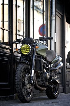 Olive Adventure – Legend Motors Moto Morini 1200 Scrambler #CustomMotorcycles #Scrambler