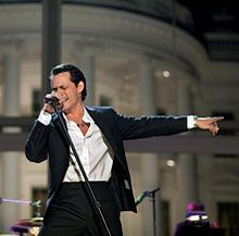 Marco Antonio Muñiz (born September 16, 1968), known professionally by his stage name Marc Anthony, is an American singer-songwriter, actor and producer. Anthony is the top selling tropical salsa artist of all time. The two-time Grammy and three-time Latin Grammy–winner has sold more than 12 million albums worldwide. He is best known for his Latin salsa numbers and ballads.
