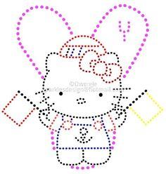 Y Z   Alfabet Hello Kitty 2 by Dwergje   glittermotifs
