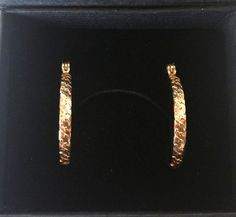 14k Gold Filled Detailed Hoop Earrings from Israel