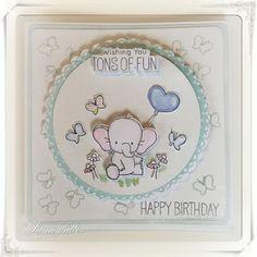 Lunasdatters Scrapbooking: Birthday kort